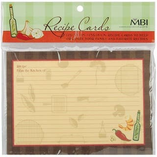 "MBI Family Recipes Additional Cards 25/Pkg-5""X7""