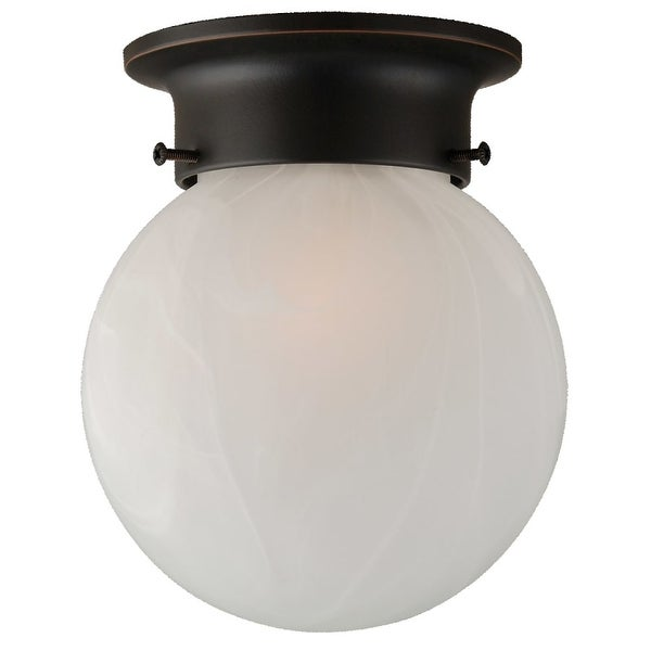 Design House 514521 Single Light Flushmount Ceiling Fixture From The Millbridge Collection Oil Rubbed Bronze
