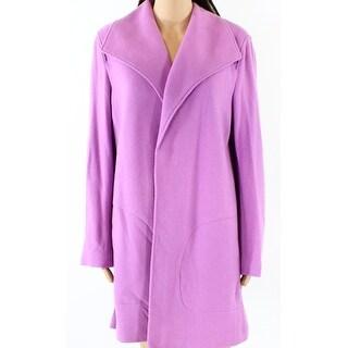 Lauren by Ralph Lauren NEW Purple Womens Size XL Open Front Coat