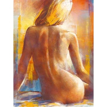 ''Nu de Dos I'' by Alain Dumas Nudes/Erotic Art Print (31.5 x 23.5 in.)