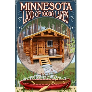 Minnesota - Cabin and Lake - Lantern Press Artwork (Playing Card Deck - 52 Card Poker Size with Jokers)