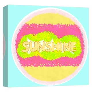 "PTM Images 9-124749  PTM Canvas Collection 12"" x 12"" - ""Sunshine"" Giclee Text and Symbols Art Print on Canvas"