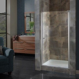 "Miseno MSD2572CLQ Pivot 72"" High x 22-1/2 - 24-1/2"" Wide Hinged Frameless Shower"
