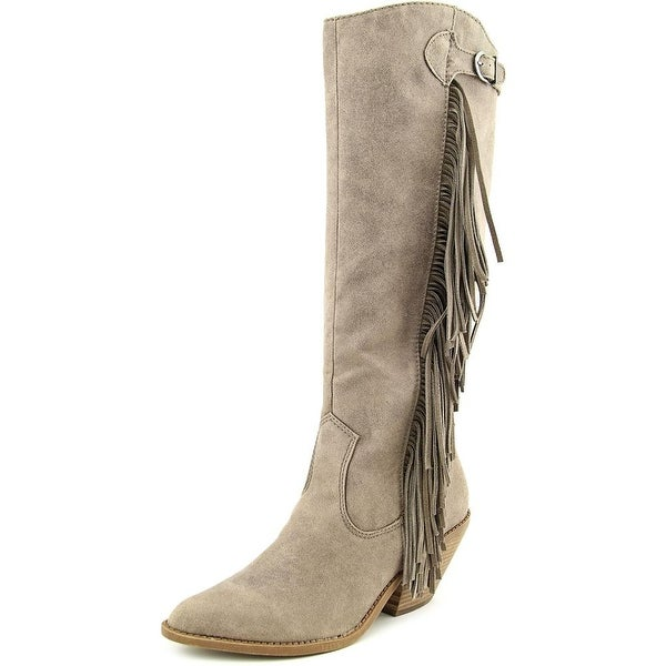 Carlos by Carlos Santana Lever Women Pointed Toe Suede Gray Knee High Boot
