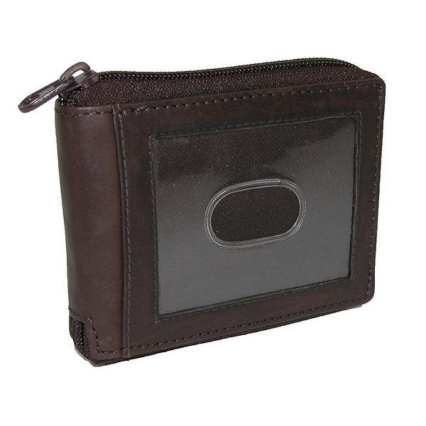 Paul & Taylor Mens Leather Zip Around Bifold ID Wallet