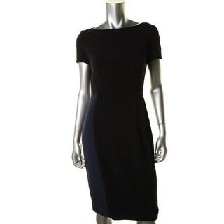Elie Tahari Womens Colorblock Short Sleeves Wear to Work Dress - 0
