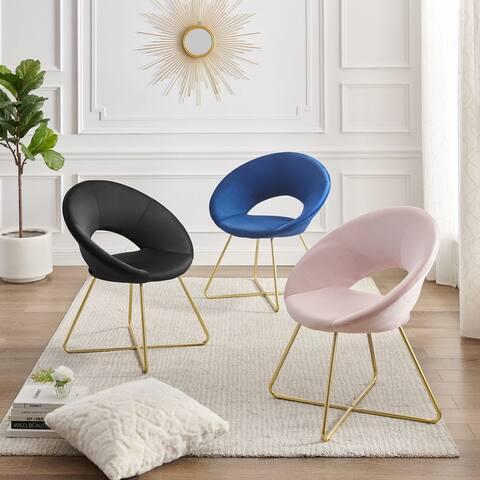 Corvus Hugh Velvet Accent Chairs (set of 2)
