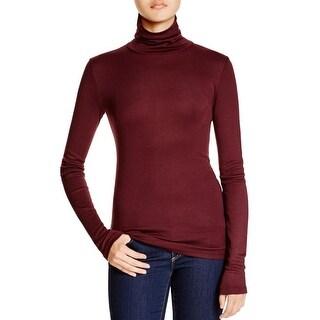 Splendid Womens Turtleneck Top Micro Modal Long Sleeve