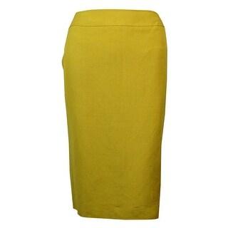 Tahari Women's Back Vent Linen Pencil Skirt
