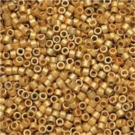Miyuki Delica Seed Beads 11/0 - Matte Metallic Bright Yellow 24K Gold DB331 7.2 Grams