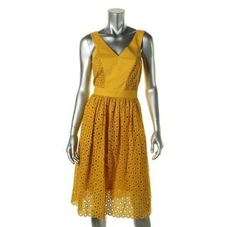 Anne Klein Womens Casual Dress Cotton Eyelet
