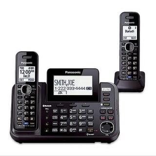 Panasonic KX-TG9542B Bluetooth Enabled 2-Line Phone with Answering Machine & 2 Cordless Handset