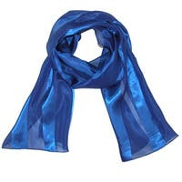 CTM® Women's Long Solid Satin Scarf - one size