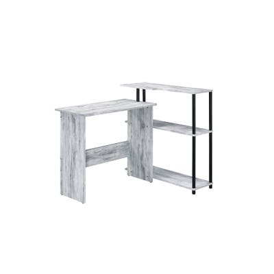 ACME Ievi Writing Desk in Weathered White and Black Finish