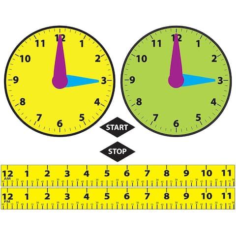 (3 Ea) Math Die Cut Magnets Elapsed Time