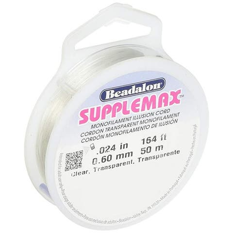 Beadalon - SuppleMax Stringing Cord - .6 mm - Clear