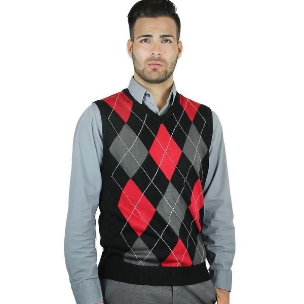 23fadbf9891 Shop Men's Argyle Sweater Vest - Free Shipping On Orders Over $45 ...