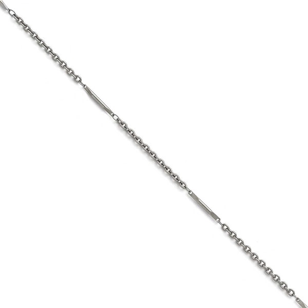 Chisel Stainless Steel Polished Fancy Link Necklace - 18 in