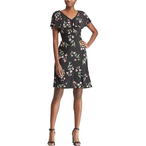 American Living Womens Malenna Fit & Flare Dress, black, 16