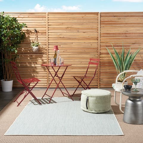 Nourison Courtyard Modern Geometric Indoor/Outdoor Area Rug
