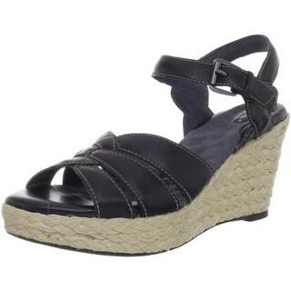 Soft Walk Womens St Helena Leather Espadrille Wedges - 10 narrow (aa,n)