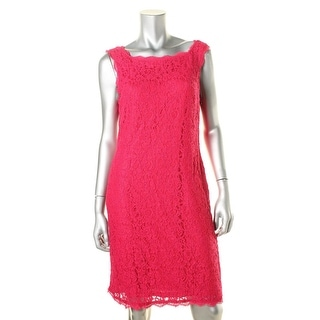 Adrianna Papell Womens Lace Eyelash Cocktail Dress