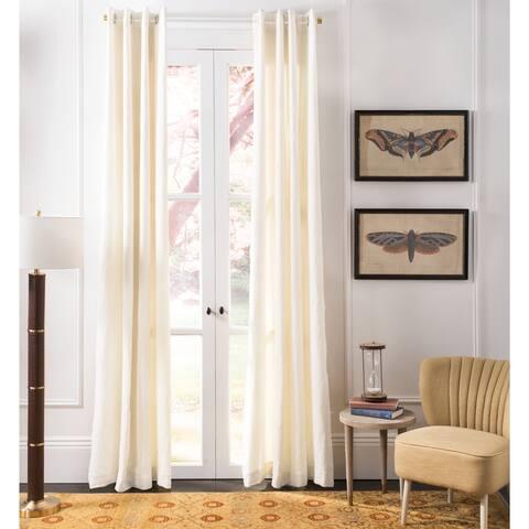 "SAFAVIEH Vari Linen 84-inch Single Curtain Panel - 84"" L x 52"" W"