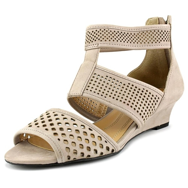 Elie Tahari Nina Women Open Toe Leather Wedge Sandal