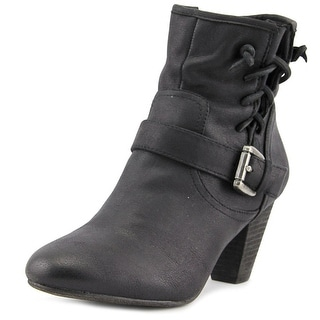 Report Milan Women  Round Toe Synthetic Black Ankle Boot