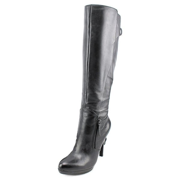 Nine West Jetto Pointed Toe Leather Knee High Boot