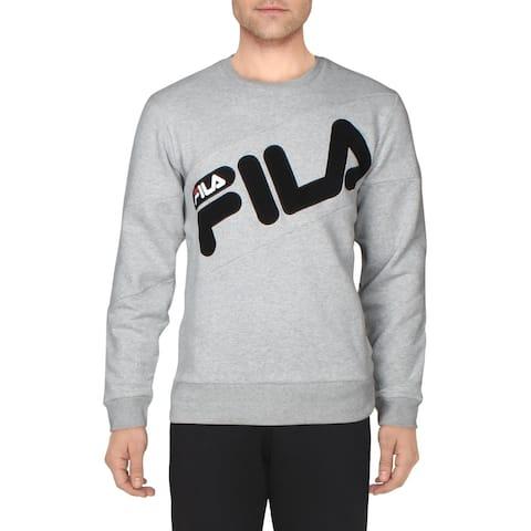 Fila Mens Alec Sweatshirt Fitness Activewear - Gray