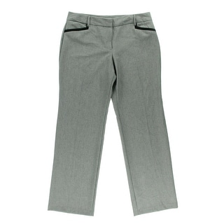 BCX Womens Juniors Dress Pants Heathered Contrast Trim