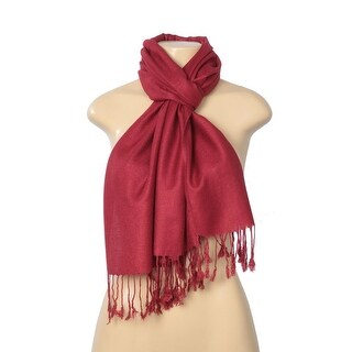 Solid Pashmina Silk Blend Wrap Scarf