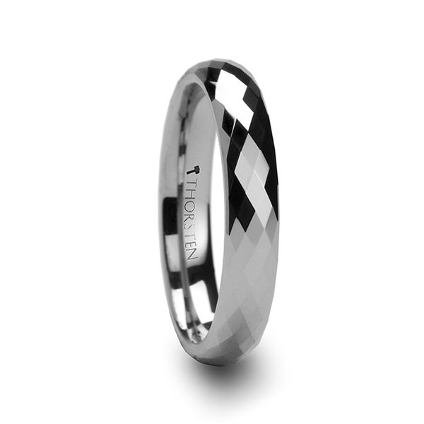 Celona 288 Diamond Faceted Womens Tungsten Ring