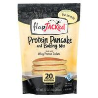 Flapjacked Protein Pancake - Buttermilk Mix - Case of 6 - 12 oz.