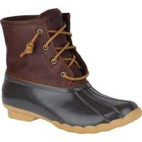 Sperry Top-Sider Women's Saltwater Duck Boot Tan/Dark Brown