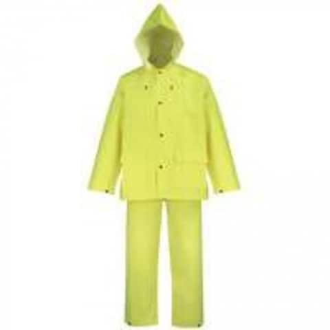 Diamondback OX025PU-M Polyester Rainsuit, Yellow, 3 Piece