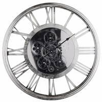 Minimalist Sleek Clock, Metallic Gray