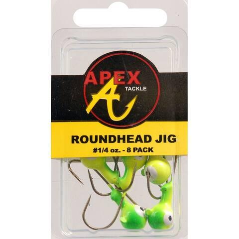 Apex ap14-8-2 jig heads 1/4 oz 8pk cht/grn