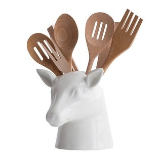 https://ak1.ostkcdn.com/images/products/is/images/direct/85eacbd8fa6b28cae273aefaf15a29751fd59e7e/Stag-Head-Kitchen-Utensil-Holder---7.86%22-x-7.5%22-White-Ceramic.jpg