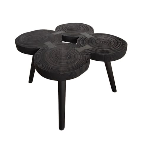 """Wooden 17""""H Accent Table, Black"""