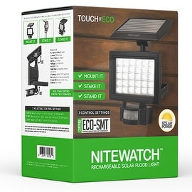 NITEWATCH Solar 3-1 Motion Flood Light Bright Long Range Motion detector
