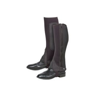 Tough-1 Neoprene Half Chaps Synthetic Suede Full Length Zipper