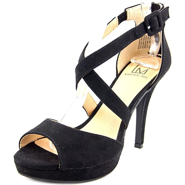 Material Girl Helenah Women Black Sandals