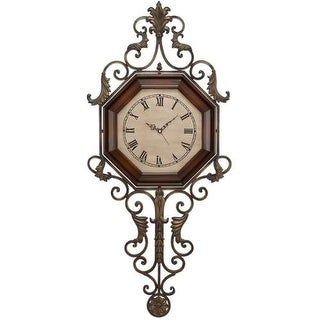 "Aspire Home Accents 13688 39"" Wrought Iron Wall Clock"