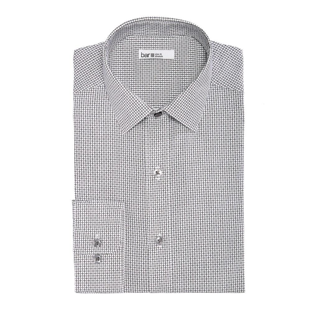 Details about  /Bar III Men/'s Slim-Fit Performance Stretch Floral-Print Dress Shirt