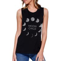 Moon Child Womens Halloween Muscle Top Cute Graphic Workout Tanks