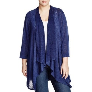 Nally & Millie Womens Plus Cardigan Top Open Front Drapey