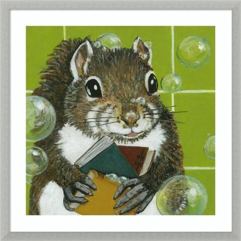 Bubbles - Ayman (Squirrel) by Dlynn Roll Framed Wall Art Print