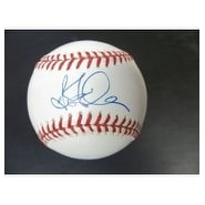 Signed Finley Steve Major League Baseball in blue ink on the sweet spot autographed